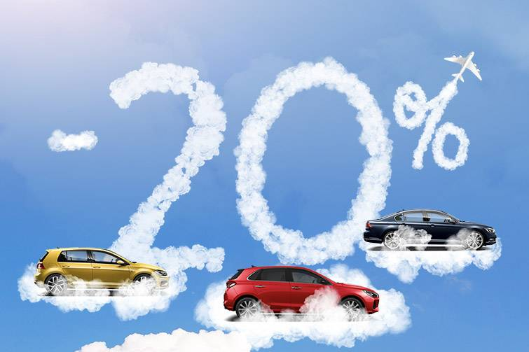 Rent a vehicle at 20% lower prices!
